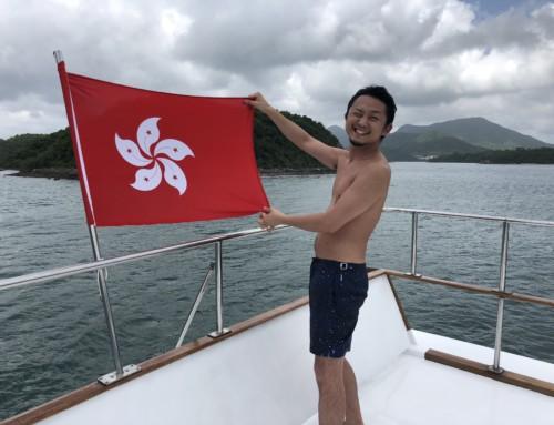 香港で初めてのボートパーティー🛥