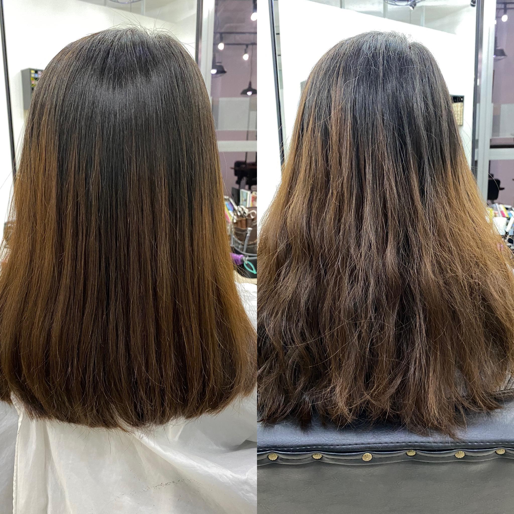 の 毛 違い 改善 と 縮 質 矯正 髪