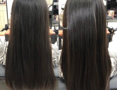 髪質改善縮毛矯正で髪に艶とまとまりを。