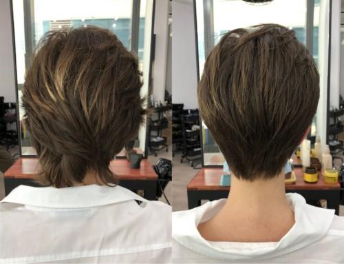 Hair cut Short style.