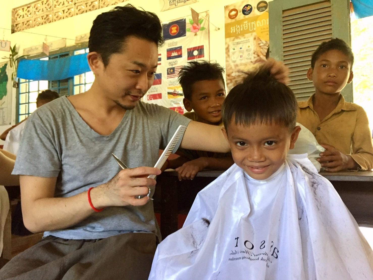 【assort groupの活動】カンボジアでヘアカット !