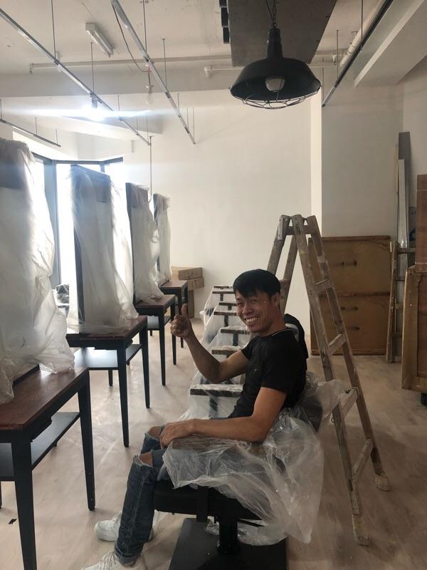 施工のヒロさん。
