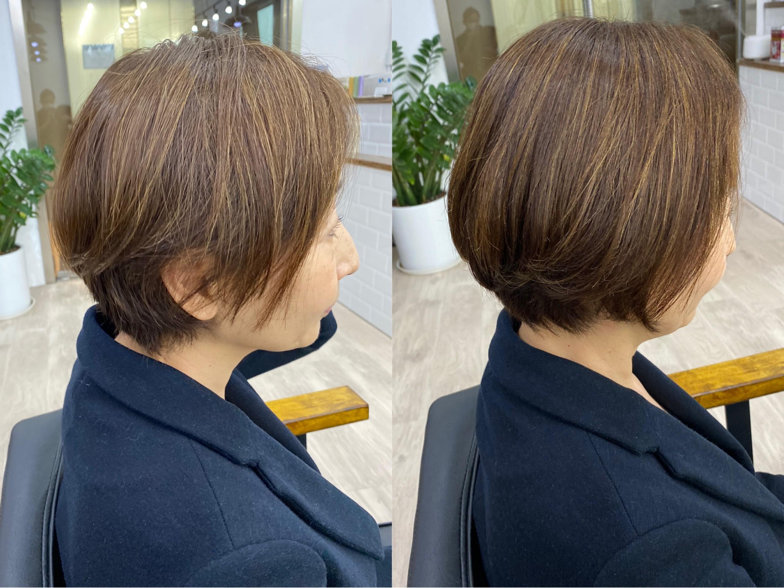 [丸みが作れる髪質改善縮毛矯正]ショートヘアでも自然な仕上がり!